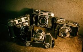 Обои vintage, cameras, old