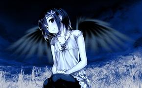 Картинка девушка, крылья, аниме
