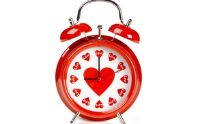 Обои фото, Сердце, Часы, День святого Валентина, Будильник, Праздники