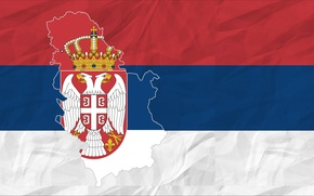 Картинка red, white, blue, Flag, Serbia