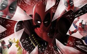 Картинка Пистолет, Меч, Оружие, Deadpool, Marvel, Дэдпул, Spider Man, Wade Wilson, Чимичанга, Chimichanga