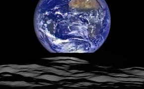 Картинка космос, фото, земля, луна, НАСА