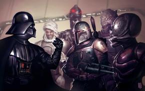 Картинка арт, Darth Vader, Дарт Вейдер, звёздные войны, Star wars, наемники, преступники