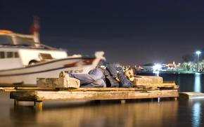Картинка камень, сон, ситуация, лодки, гавань