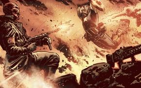 Обои marvel, comics, captain america, капитан америка, hero