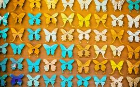 Обои разные, много, бабочки, фон