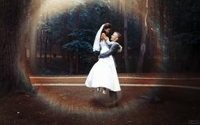 Обои невеста, photographer, Ivan Gorokhov, девушка, жених, радость, счастье