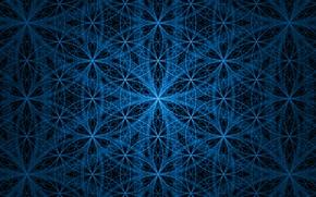 Картинка узоры, Синяя, черная