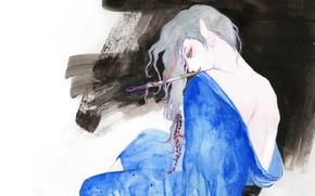 Картинка рисунок, спина, арт, парень, кимоно, Mononoke, Kusuriuri, okurina
