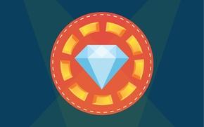 Картинка кристалл, свет, абстракция, бриллиант, ярко, дорого, алмаз
