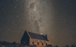 Картинка звезды, церковь, Млечный Путь, тайны