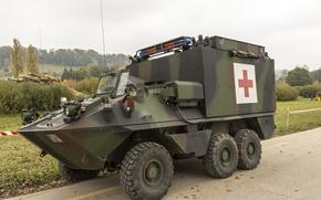 Картинка автомобиль, Ambulance, Mowag Piranha, Санитарный