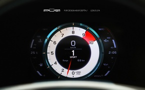 Картинка Lexus, спидометр, лексус, LFA, LF-A, Project Reignfire