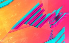 Обои свет, линии, полоса, цвет, объем, слой