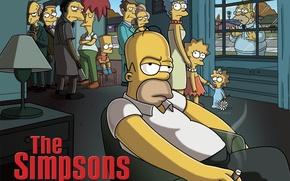 Обои пародия, персонажи, Simpsons