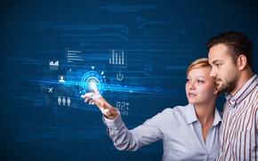 Картинка concept, future, internet, digital, computer, screen, technology, media, touch, business couple, innova