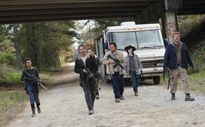 Обои Ходячие мертвецы, команда, Season 6, The Walking Dead
