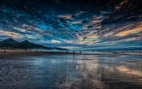 Картинка горы, природа, побережье, пляж. океан