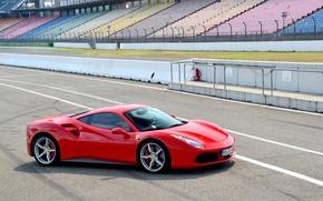 Картинка Ferrari, Red, GTB, 488