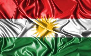 Картинка Флаг, Герб, Курдистан, Флаг Курдистана