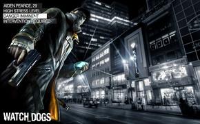 Картинка улица, телефон, парень, Watch Dogs