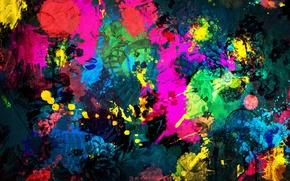 Картинка цвета, краски, яркие, здание, разводы, архитектура, очертания, Paint Background