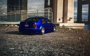 Обои джетта, volkswagen, MK4, фольксваген, blue, jetta, тюнинг, синий