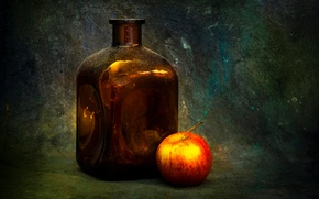 Картинка фон, бутылка, яблоко, Dimple