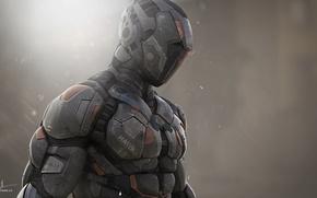 Обои protective suit, helmet, Sci Fi, armor, technology