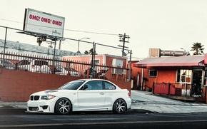 Картинка белый, бмв, BMW, white, 1 серия