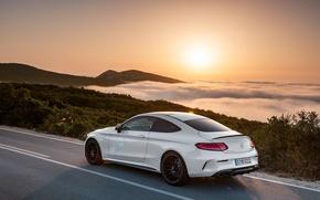 Картинка car, пейзаж, горы, Mercedes, AMG, Coupe, C63 S