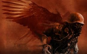 Обои демон, война, солдат, хаос, разрушение