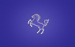Картинка животное, лошадь, минимализм, фиолетовый фон