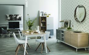 Картинка interior, retro style, living space
