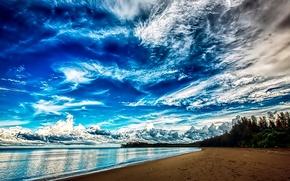 Картинка beach, sea, clouds, The sky