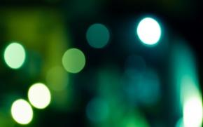 Обои круги, Зеленый, фон
