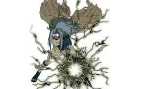 Картинка молния, белый фон, Naruto, красные глаза, трансформация, ninja, ниндзюцу, Uchiha Sasuke, чакра, Наруто Ураганные хроники