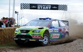 Картинка Ford, Авто, Спорт, Машина, Гонка, Focus, WRC, Rally, Ралли, Фокус, Старт, Передок
