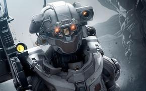 Картинка future, Microsoft, battlefield, gun, game, soldier, weapon, woman, war, Linda, fight, Xbox 360, battle, rifle, …