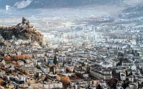 Картинка город, Switzerland, Sion