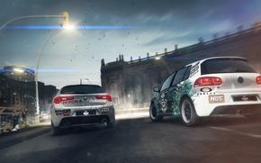 Картинка Volkswagen, Alfa Romeo, Race, Golf, GRID 2, giulietta