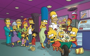 Обои Симпсоны, мульт, The Simpsons, кража