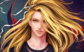 Картинка волосы, арт, лента, парень, Naruto, Zetsuai89, Deidara