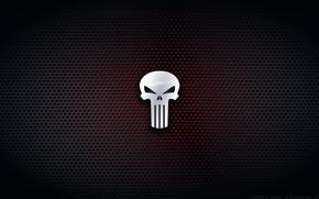 Картинка череп, минимализм, Marvel Comics, Kalangozilla, The Punisher