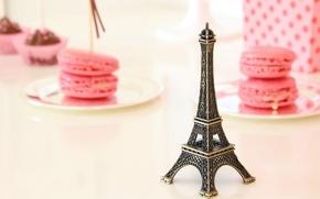 Картинка эйфелева башня, еда, печенье, сладости, сувенир, macaron, макарун