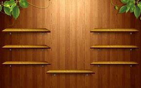 Картинка зелень, дерево, текстура, полки