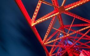 Картинка abstract, red, night, steel
