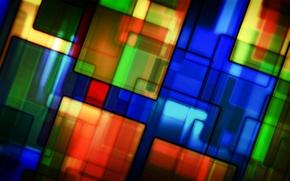 Картинка линии, узор, краски, текстура, витраж