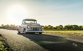 Обои chevrolet, 3100 series, pickup, classic, car, lunchbox photoworks