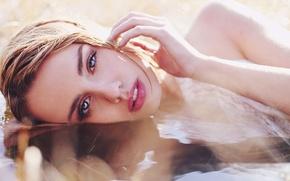 Картинка глаза, вода, девушка, лицо